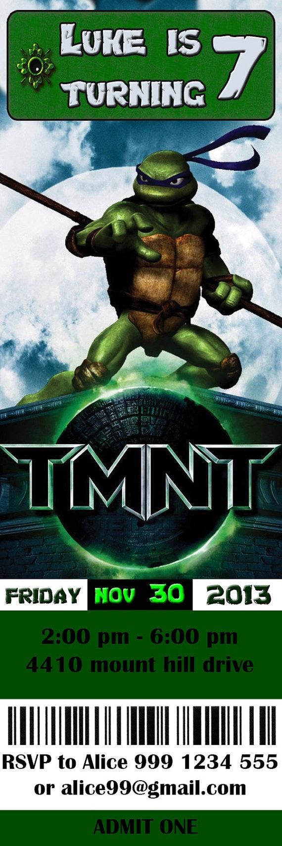Teenage Mutant Ninja Turtle Invitations was best invitations sample