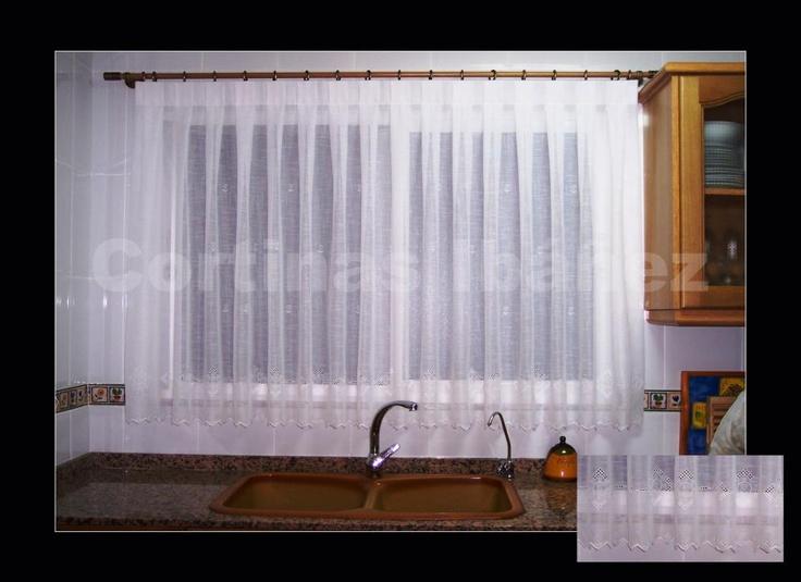 Pin by cortinas iba ez on cortinas en cocinas pinterest - Visillos para cocina ...