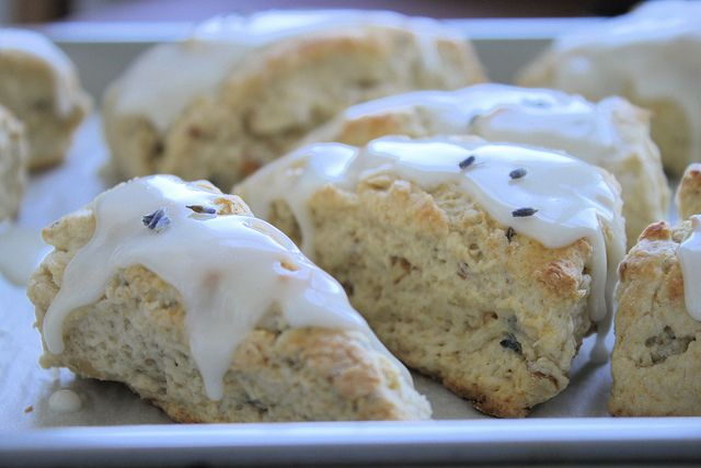 Lavender Walnut Scone recipe | An Edible Bouquet | Pinterest