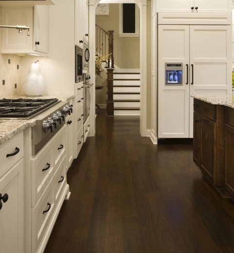 Dark Kitchen Cabinets Light Floors: Dark Floors, Light Cabinets