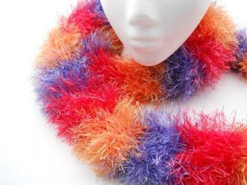 Fun Fur Scarf - Long - Fluffy - Soft - Yellow - Purple - Red $10