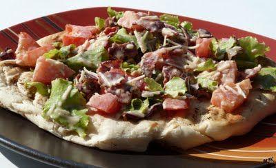 Grilled BLT Pizza | Melissa's Cuisine | Pinterest