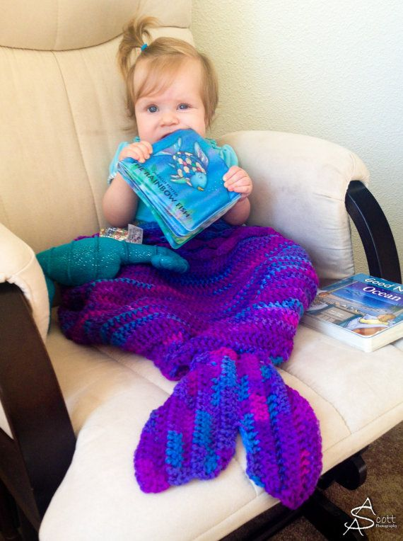 Crochet Patterns Mermaid Blanket : Mermaid Blanket Crochet Pattern
