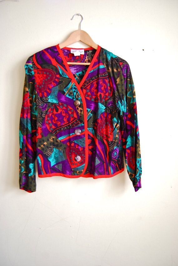 vintage clothing abstract shirt geometric shirt