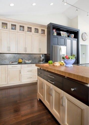 Interesting Cabinetry And Countertop Mismatched Row Of Lower Level