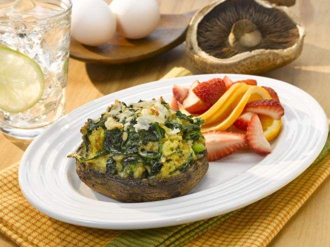 Herbed Spinach Quiche Portobello Caps | Veggies & Side Dishes | Pinte ...