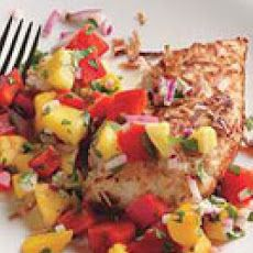 Coconut-Crusted Chicken with Mango Salsa Recipe