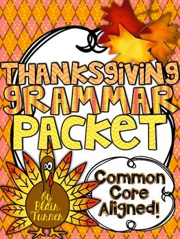 Thanksgiving Grammar Packet