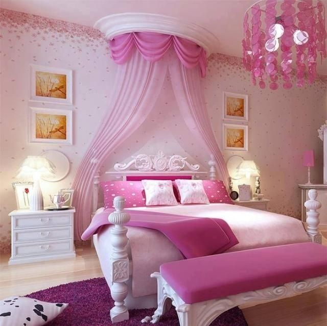 Teen room pink and girly for the home making your for Girly teenage bedroom designs