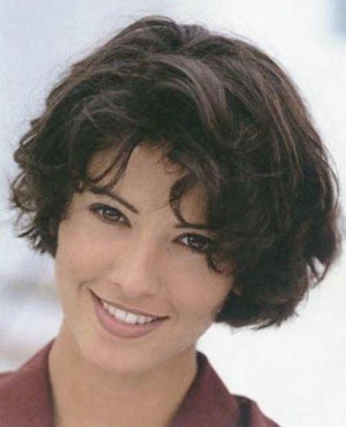 Curly short stacked bob hairstyles hair short pinterest