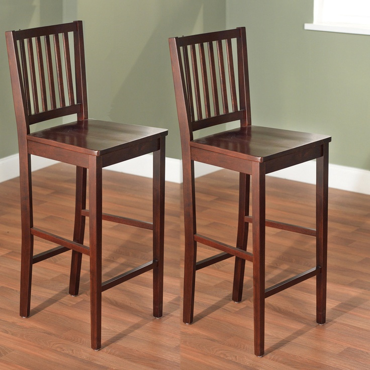 Simple Living 30 Inch Shaker Bar Stools Set Of 2