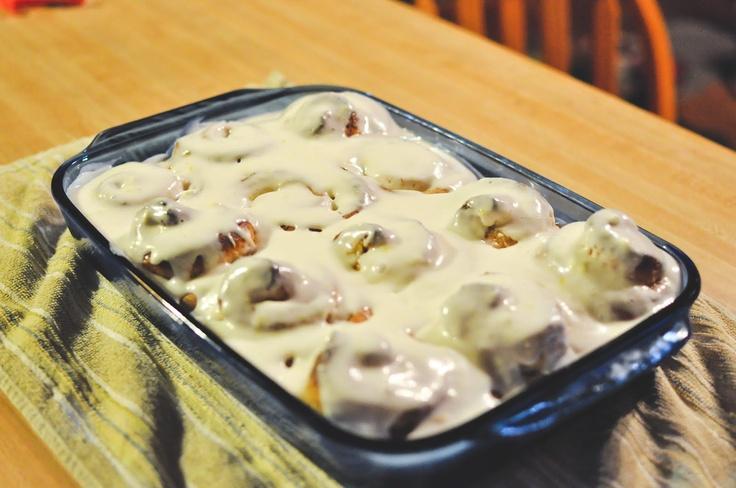 Sticky lemon rolls with lemon cream cheese glaze. Dear Lord...