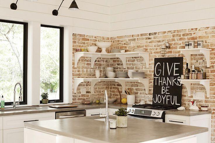 White Washed Brick Kitchen Backsplash Brick Love Pinterest