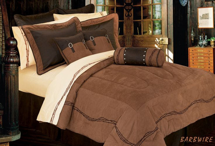 Bedding set wild west inspired with beautiful touches of earth tones