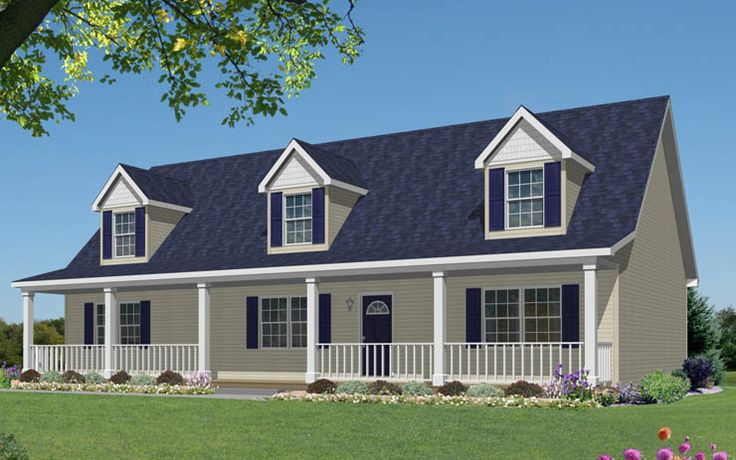 Cape Cod With 3 Dormers And Full Front Porch