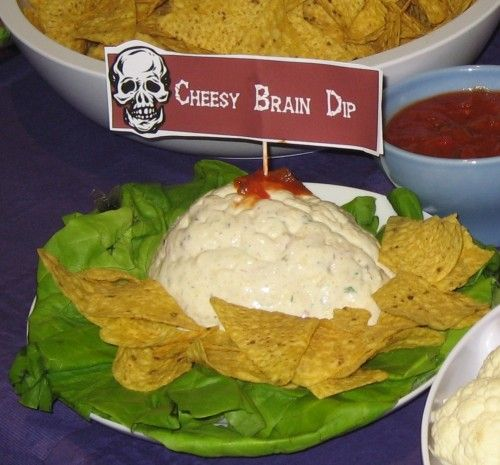 halloween-brain-dip-cheesy | Halloweeeeen | Pinterest