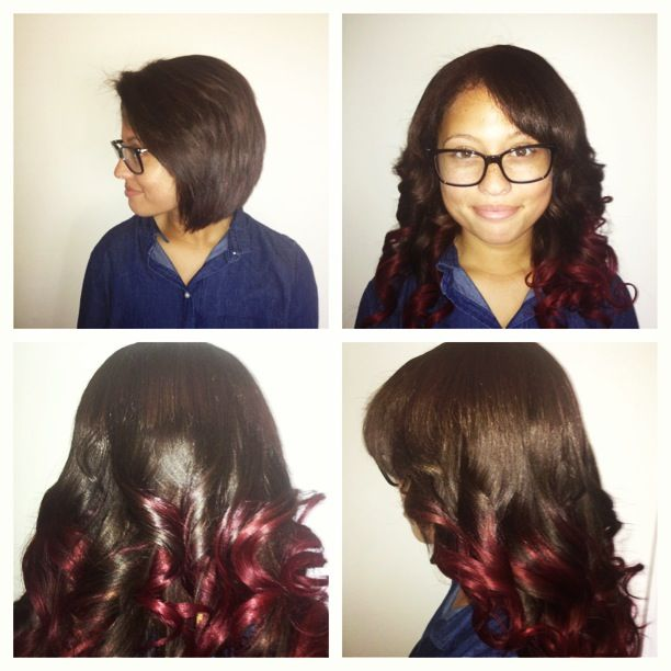 Sew in with Side Part
