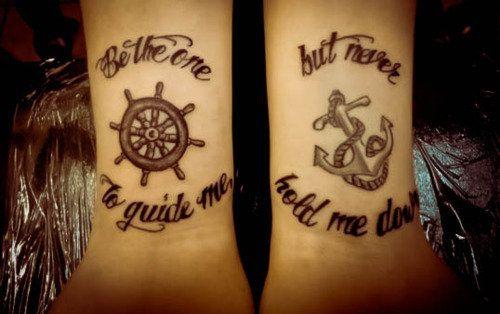 Semi matching tattoos.