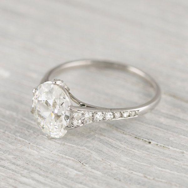Vintage 1 82 Carat Cushion Cut Engagement Ring