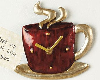 Magnetic Coffee Mug Kitchen Clock