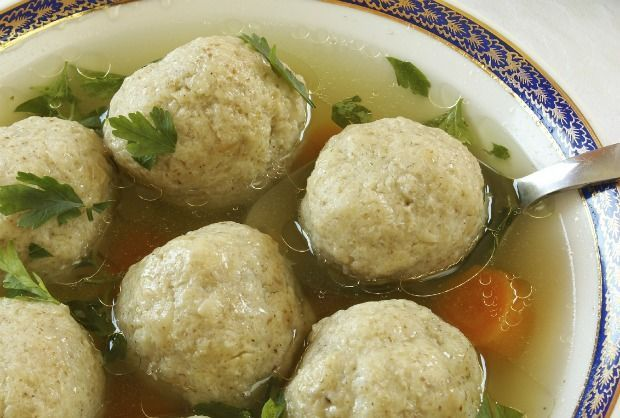 Matzo Balls. Love, love chicken soup with matzo balls.