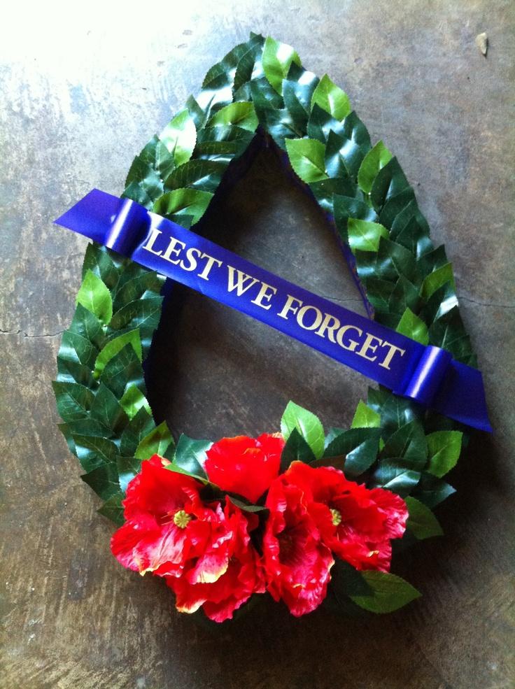 Anzac Day Wreath | Australia & its people - my home | Pinterest