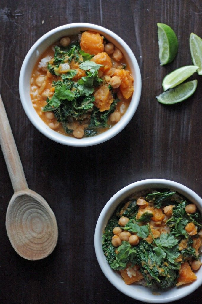kale butternut squash stew ginger lime kale with squash chickpeas ...