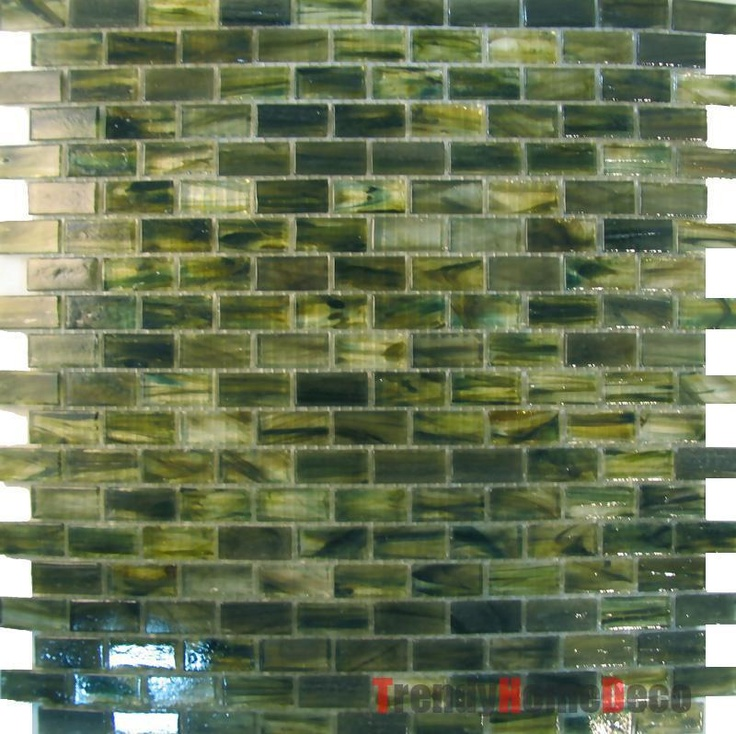 Sample Green Recycle Glass Mosaic Tile Backsplash Kitchen Wall Sink