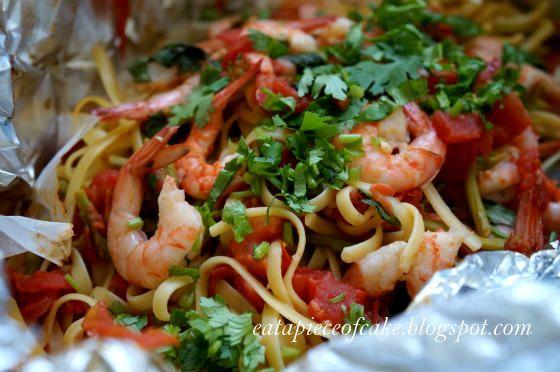 Shrimp Pasta in a Foil Package   Shrimp   Pinterest