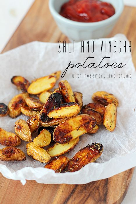 salt and vinegar potatoes with rosemary and thyme