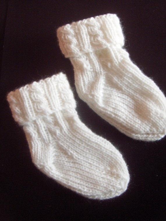 Hand Knitting : cashmere hand knit baby socks Knitting Cross Stitch Pinterest