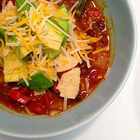 Vegetarian Butternut Squash chipotle Chili with Avocado-Little Robin's ...