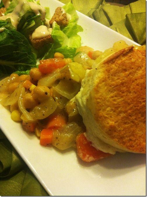 chickpea pot pie | Yummy Food -- vegetarian! | Pinterest