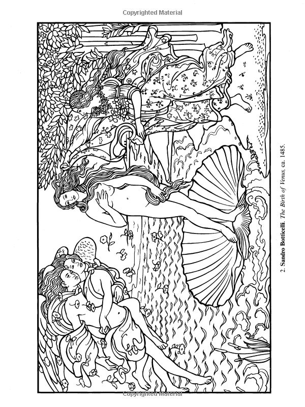 Famous Paintings Coloring Pages for Kids  Free Printables