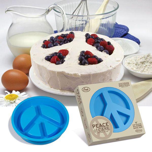 A peace sign cake pan!!