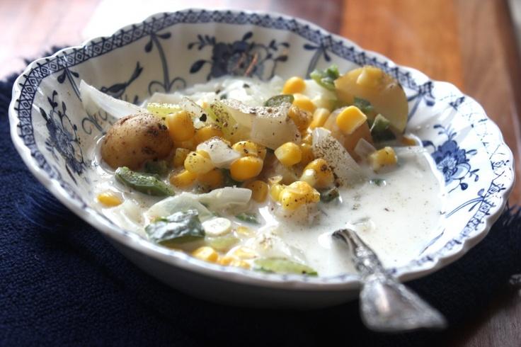 summer corn chowder | kitchen - soup and stew | Pinterest