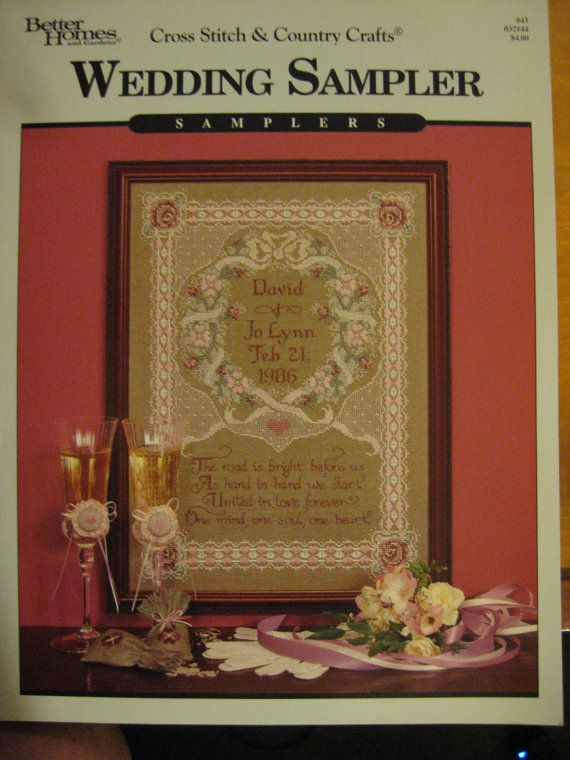 vintage wedding sampler counted cross stitch better homes gardens