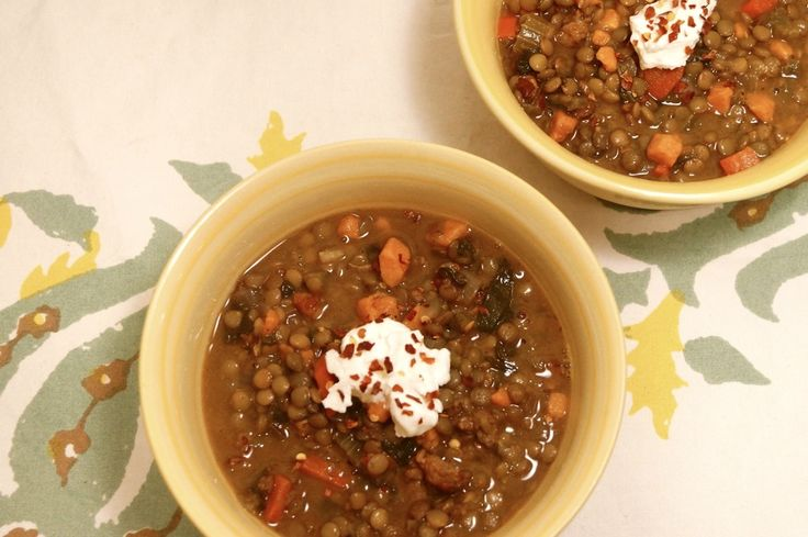 Sunday Slow Cooker: Sausage, Sweet Potato, and Lentil Stew, 6 points ...