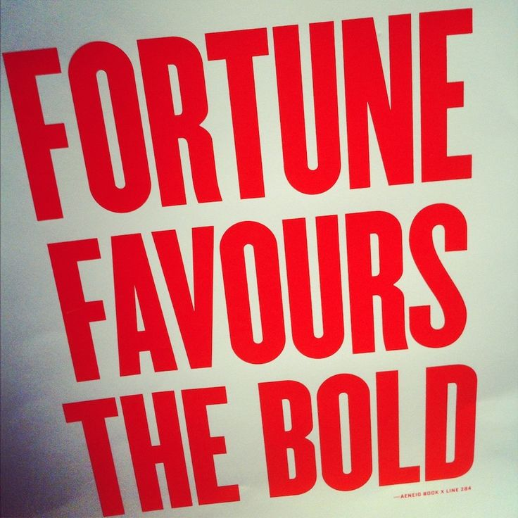 fortune favours the bold essay