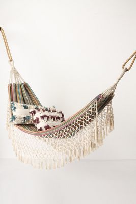 i hope our tree goes big soon so that i can take a nap in here. / tayrona hammock / anthropologie