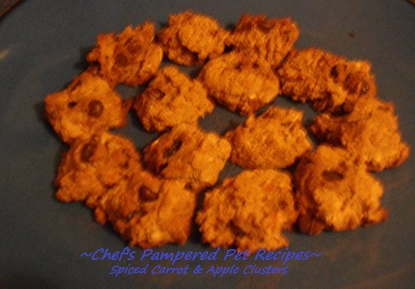 Spiced Carrot & Apple Clusters 2 cups brown rice flour 2 cups oats 1/4 ...