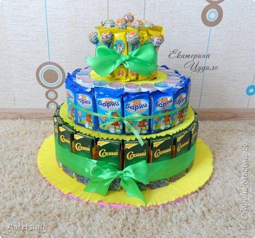 Торт в детский сад из сока и конфет как сделать