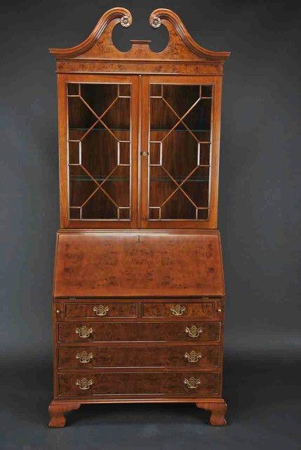 Burled Secretary Desk W Top Duncan Phyfe Inspired Living