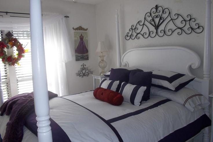 Purple White Bedroom BedRooms Pinterest