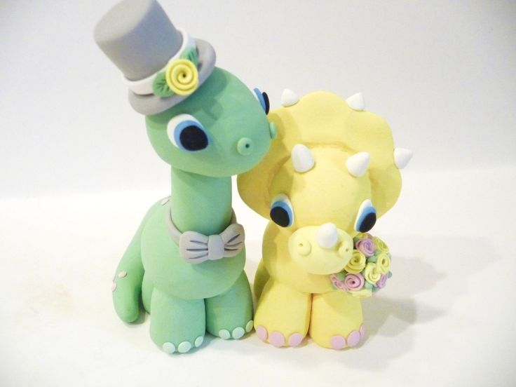 Dinosaur Wedding Cake Topper - Choose Your Colors