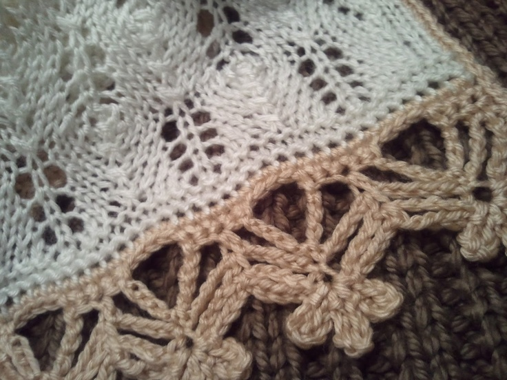 Crocheting Edges Of Knitting : Beautiful crochet edging ~ pattern If Yarn were Meth I wouldnt hav ...