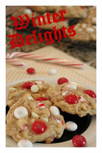 white chocolate and candy cane cookies with peppermint m amp m s