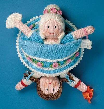 Knitting Pattern For Upside Down Doll : Knitting Pattern ~ CINDERELLA TOPSY-TURVY DOLL ~ Jean Greenhowe