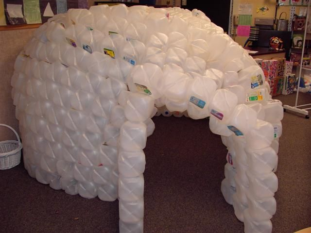Milk jug igloo for How to build an igloo out of milk jugs