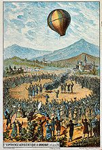 Montgolfier brothers first public hot air ballon demonstration - June 4, 1783